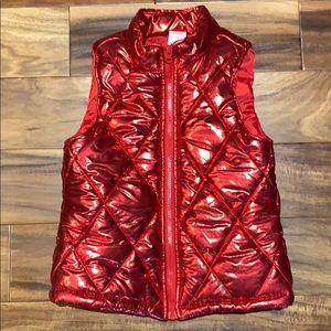 Girl's Red Puffer Vest